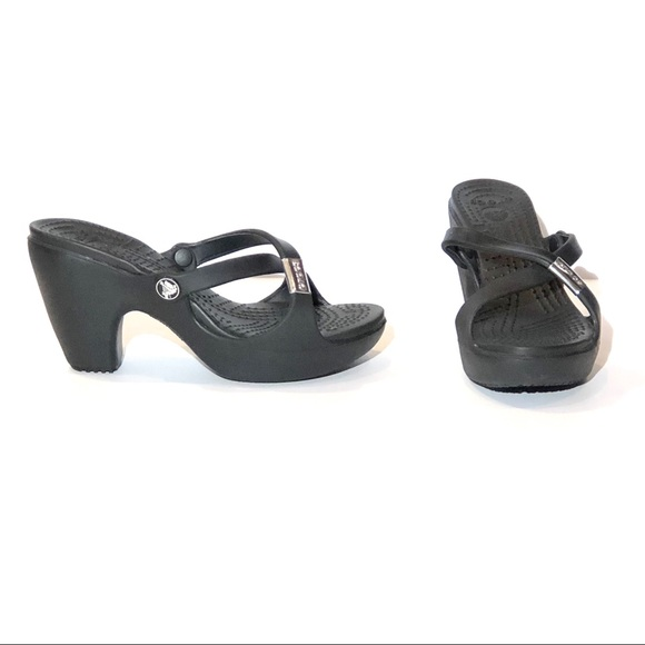 19f1f28eac1f CROCS Other - Crocs Cyprus BLACK HEEL OPEN TOE FASHION SANDAL